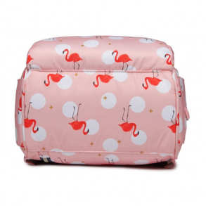 Сумка-рюкзак для мамы Mummy Bag Фламинго (розовая)