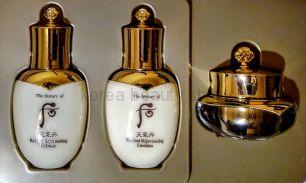 """The History of Whoo Cheongidan Hwa Hyun/Radiant  3 pcs Gift Set -  Восстанавливающий, омолаживающий и оздоравливающий набор из 3 средств ухода за кожей лица из обновленной линии """" Сияющее здоровье"""" в формате миниатюр"""