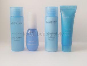 Laneige 4  miniset- набор из 4 средств для ухода за кожей в формате  миниатюр  от  Laneige