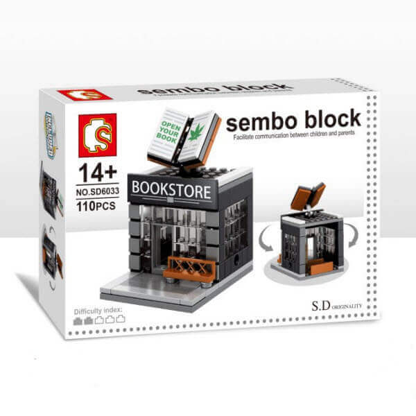 Конструктор Sembo Block Mini World. Bookstore