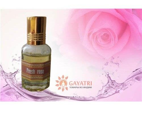 """Масло-духи """"Свежая Роза""""  производитель - Секреты Индии 10 мл"""
