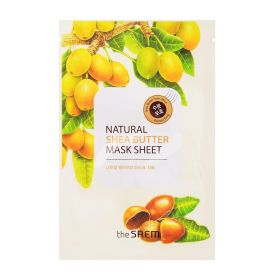 THE SAEM Natural Mask Sheet Shea Butter 21ml - Маска тканевая с экстрактом масла ши