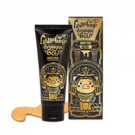 ELIZAVECCA Hell-Pore Longolongo Gronique Gold Mask Pack 100ml  -  Маска-пленка золотая