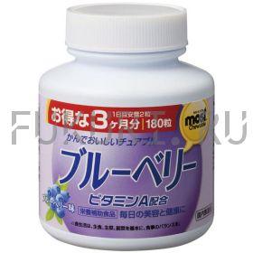 Жевательные таблетки Orihiro Blueberry с черникой и витамином А (180 таб., 90 дней)