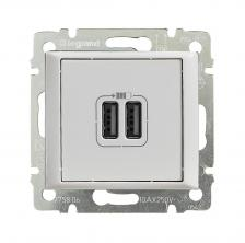 2-pозетка USB БЕЛ VLN