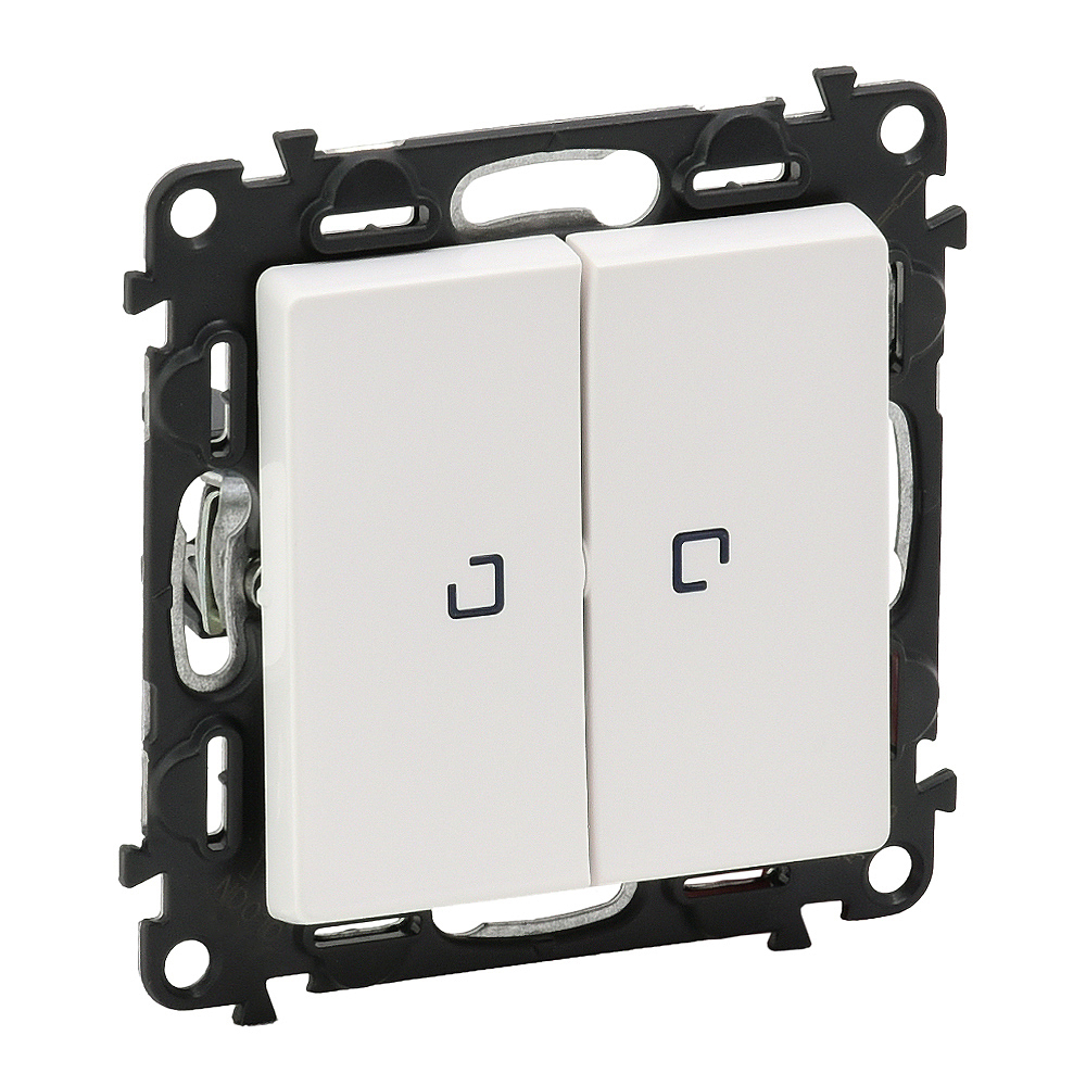 VLN-l БЕЛ Выкл 2-кл с подсвкой