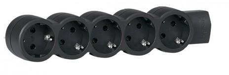 Удлинитель 5X2К+З б/кабеля чер