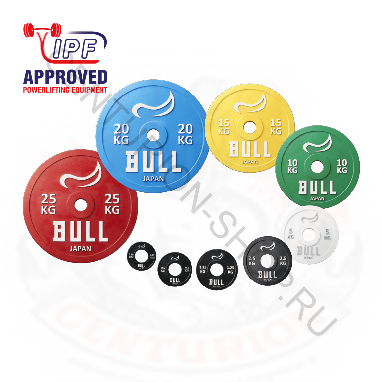 Диски для штанги BULL Powerlifting plate IPF Approved