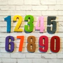 декор ЦИФРЫ размер буквы 24*42*3 мм материал фетр