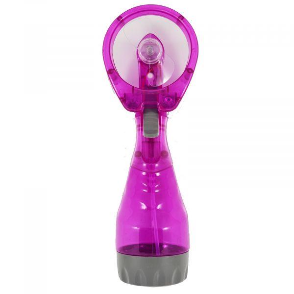 Ручной вентилятор с пульверизатором Water Spray Fan, малиновый