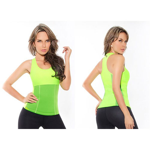Майка для похудения Hot Shapers (Хот Шейперс), цвет зеленый, размер M