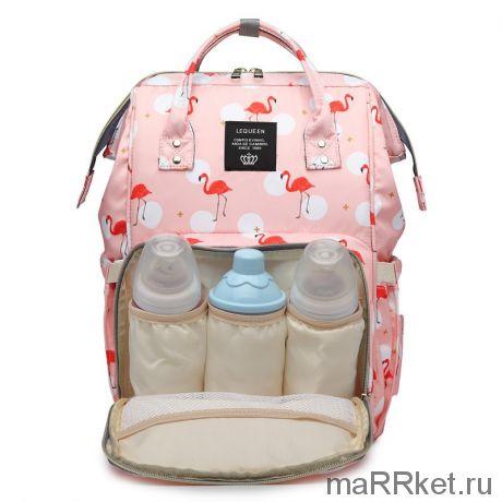 Сумка-рюкзак для мамы Mummy Bag Фламинго (розовый)