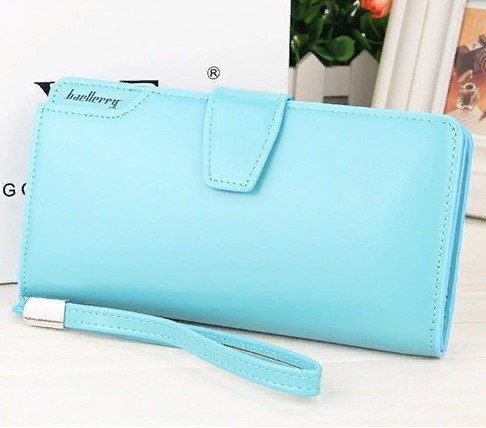 Кошелёк WOMAN BAELLERRY WALLET PU CLUTCH BAG Голубой