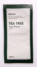 A`pieu NONCO TEA TREE SPOT PATCH  -Точечные патчи- пластыри для устранения мелких воспалений  кожи (1 лист/12 круглых патчей: 6 шт  D=11 мм, 6  шт.D=13 мм)