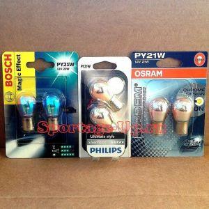 """Комплект ламп """"хром"""" для передних поворотников OSRAM BOSCH PHILIPS"""
