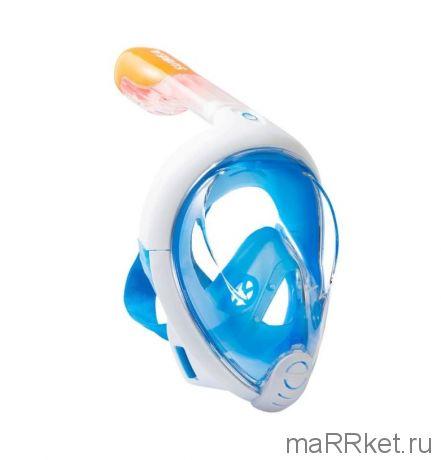Маска для снорклинга с креплением для экшн-камеры Freebreath (голубой)