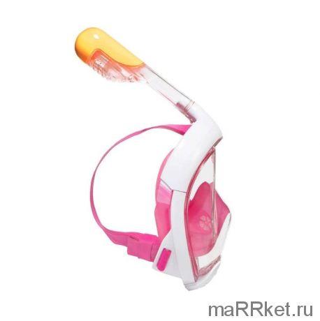 Маска для снорклинга с креплением для экшн-камеры Freebreath (розовый)