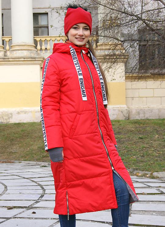 Красное пальто StreetStyle