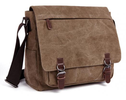 Винтажная сумка Postman (почтальон) коричневая