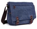 Винтажная сумка Postman (почтальон) синия