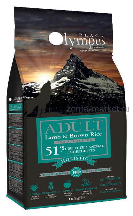 Black Olympus Adult Medium Lamb And Brown Rice