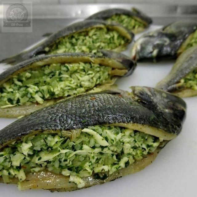 Фаршированная Дорадо ( рис, шпинат, креветка).ПРЕМИУМ
