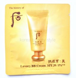 The History of Whoo Luxury BB Cream SPF20 PA++ sample - Люксовый /роскошный  ББ крем от бренда The History of Whoo ( пробник-саше -1 мл)