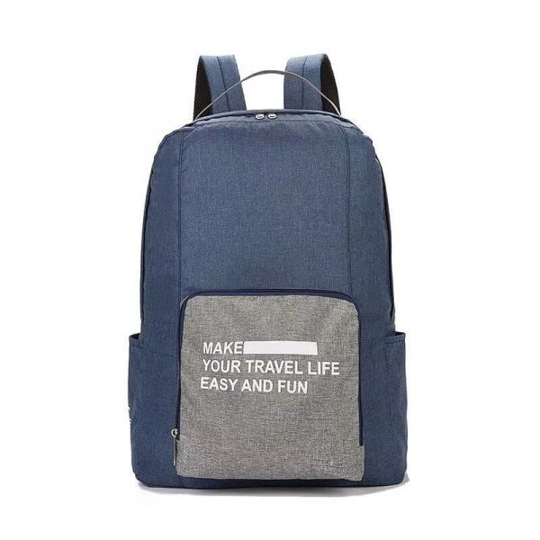 Складной туристический рюкзак New Folding Travel Bag Backpack 20, цвет синий