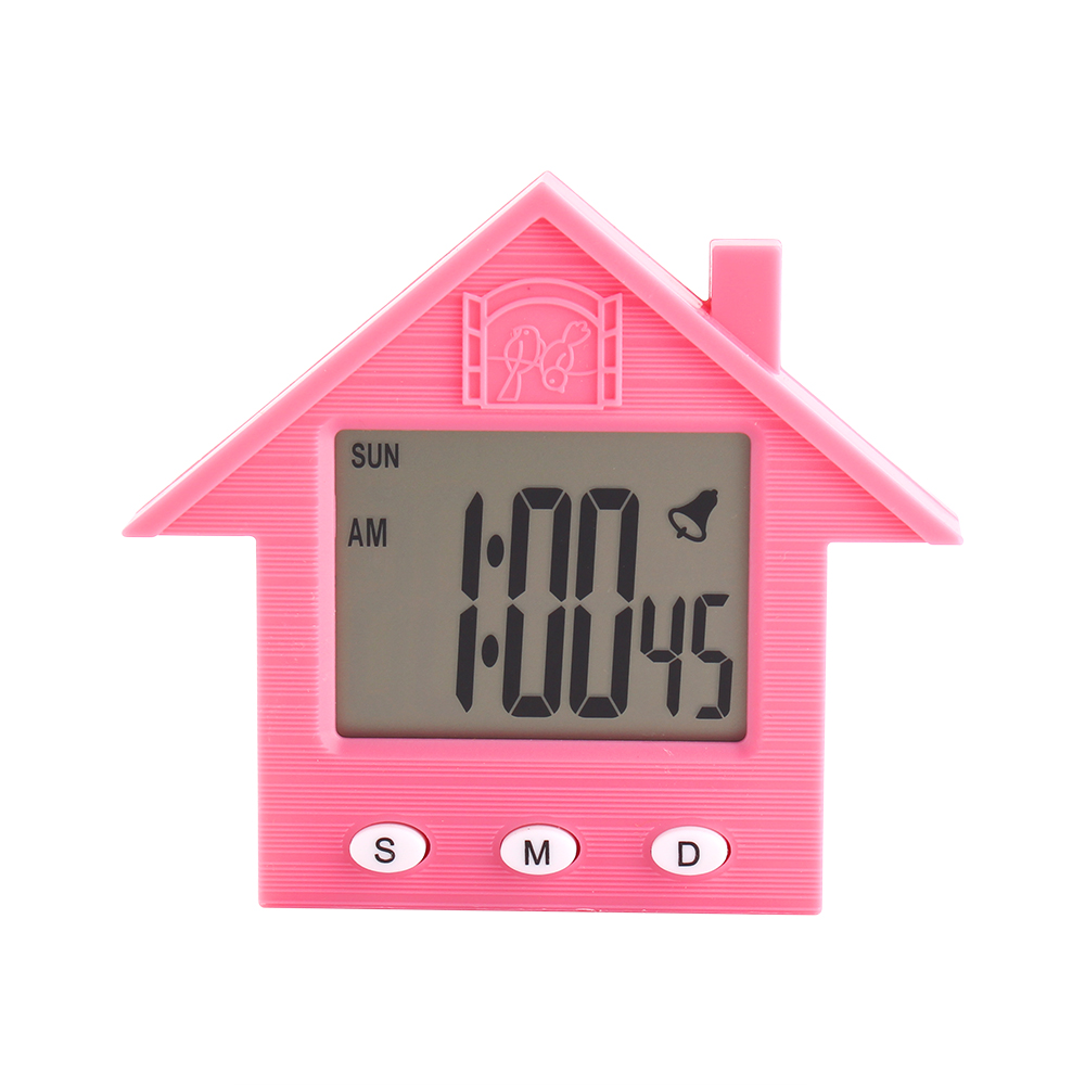 Электронные часы-будильник с магнитом Домик
