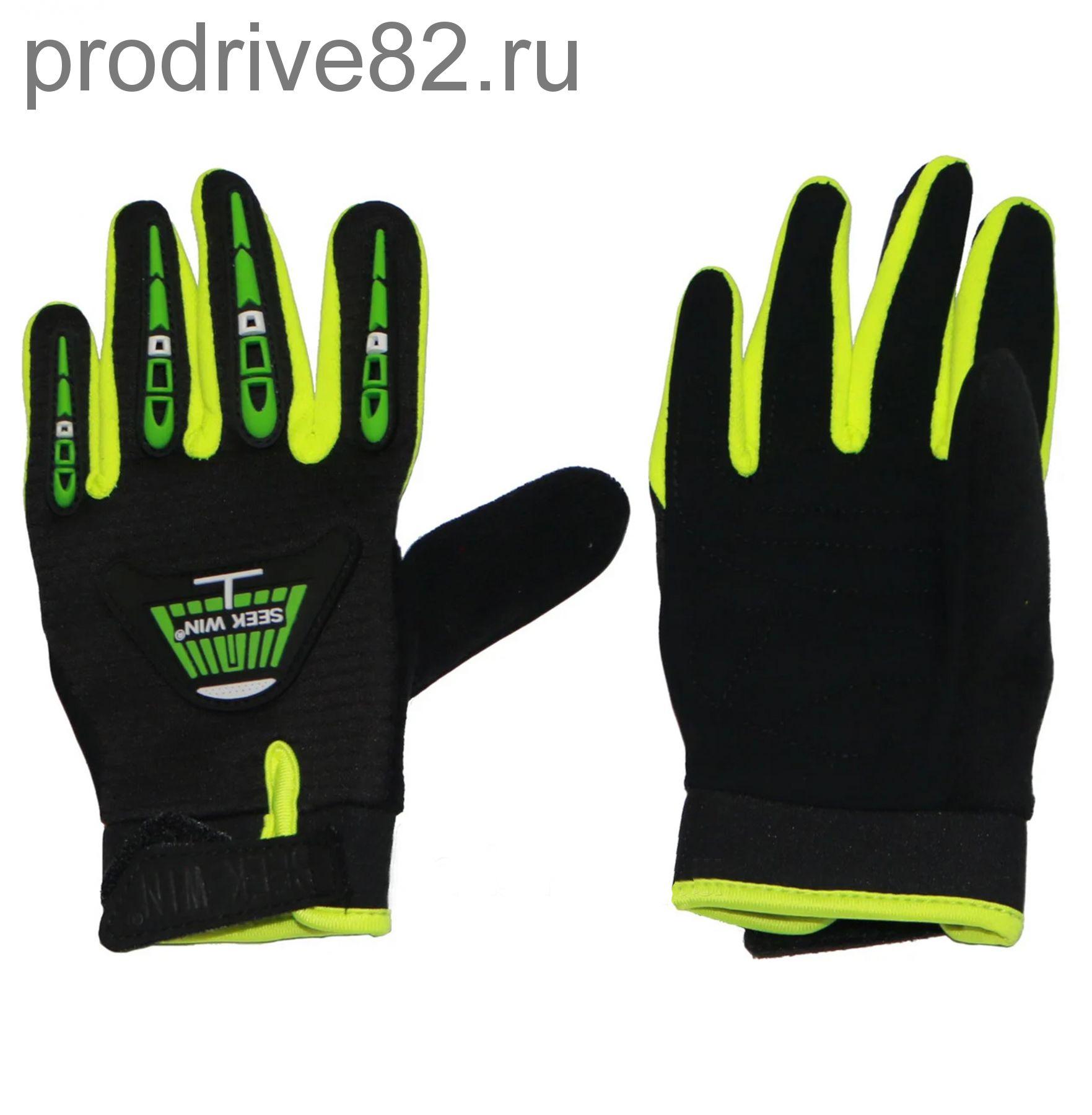Детские перчатки SEEKWIN без кулака зелено-черные