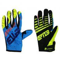 Детские перчатки ETBike сине-салатовые