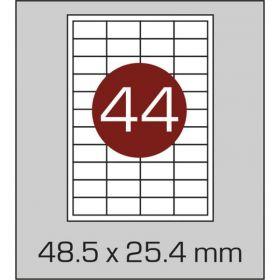641798  Этикетки самоклеящиеся Promega label белые 48.5х25.4 мм (44 штук на листе А4, 100 листов в упаковке)
