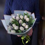 Букет Тюльпаны с ароматной лавандой