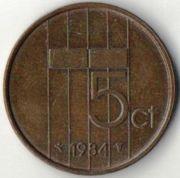 5 центов. 1980 год. Нидерланды.