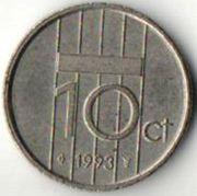 10 центов. 1993 год. Нидерланды.