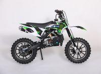 Мини кросс с электростартером бензиновый Motax 50сс бело-зеленый вид 3