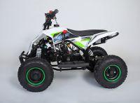 MOTAX Gekkon 70 сс Квадроцикл бензиновый бело-зеленый вид 2
