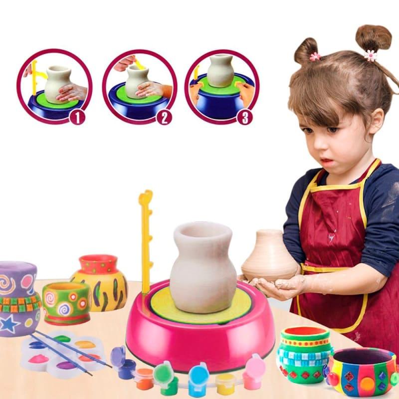 Детский гончарный круг Pottery Wheel, розовый