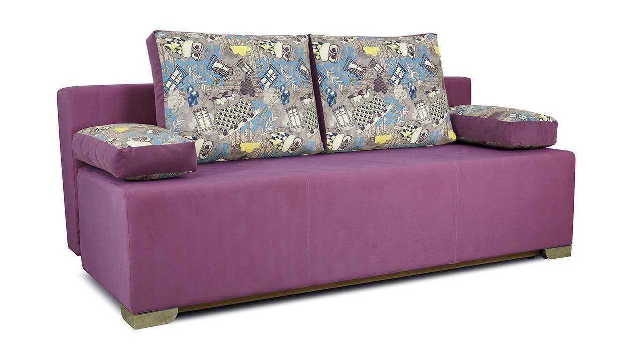 Диван «Дерби» (Maserati 18 (велюр) фиолетовый, подушка Urban (велюр) Filin)