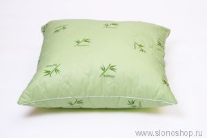 Подушка БТС 70х70 (тик, стеганный с бамбуком, волокно п/э, кант)