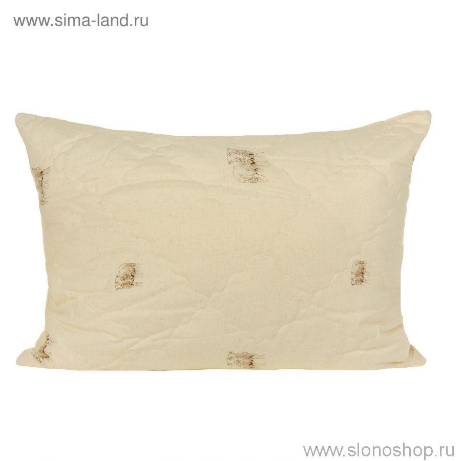 Подушка ШП-Л 70*70 Лайт (шерстон, стеганный с микрофиброй, волокно п/э, без канта)