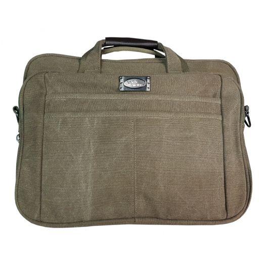 Сумка портфель для ноутбука цвет коричневый