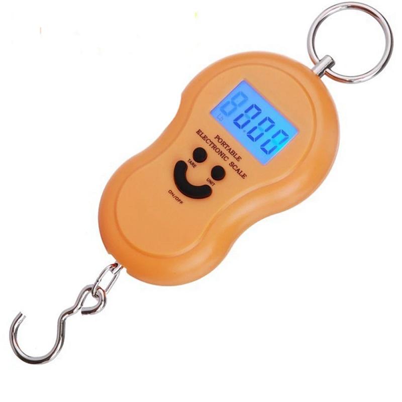 Электронный безмен с металлическим кольцом Portable, 50 кг