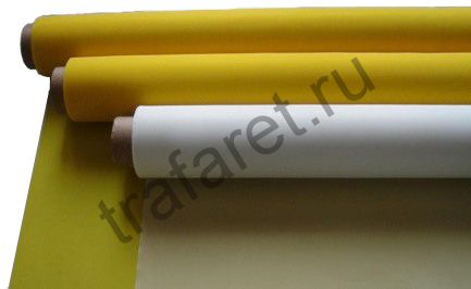 Сетка трафаретная LM-PRINT PES 120/34 жёлтая, ширина 1500 мм, за 1 пог/метр