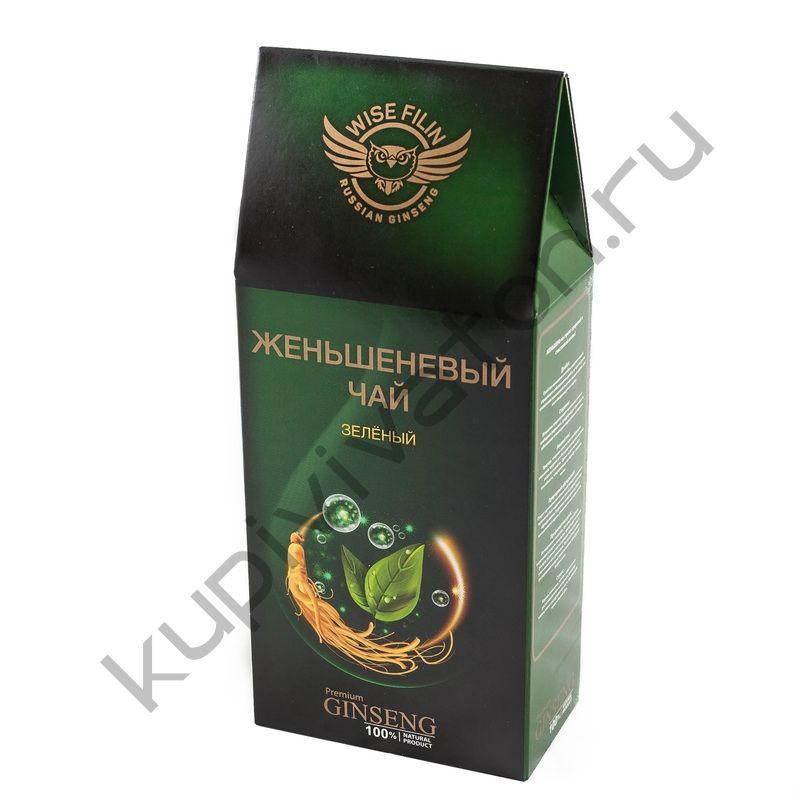 """Чай женьшеневый """"Мудрый Филин"""" зеленый элитный китайский, 100 гр."""