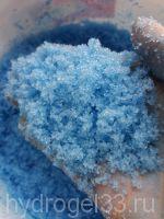 голубой растущий снег