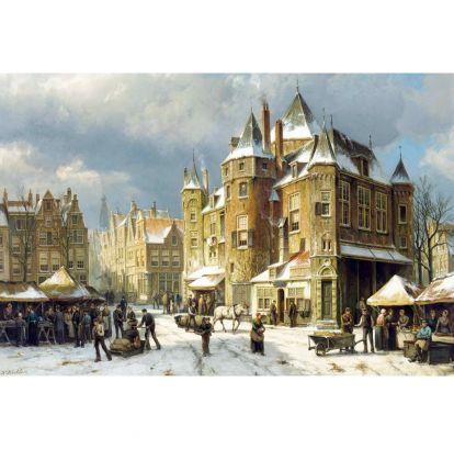 Куккук, Виллем - Зимний рынок в Амстердаме