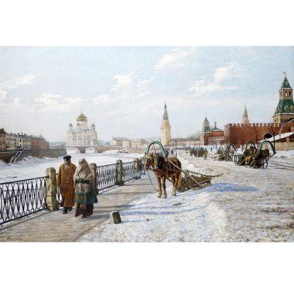 Бушар, Пол Луи - Вид на Московский Кремль и Храм Христа Спасителя