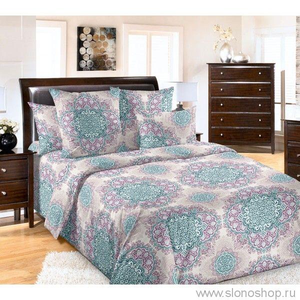 Комплект постельного белья полуторный Бруно синий 837