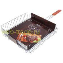 Решётка-гриль для мяса Premium, глубокая